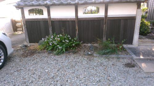 お庭の改造 雑草対策