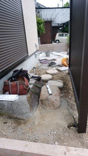 姫路市 造園 飛び石